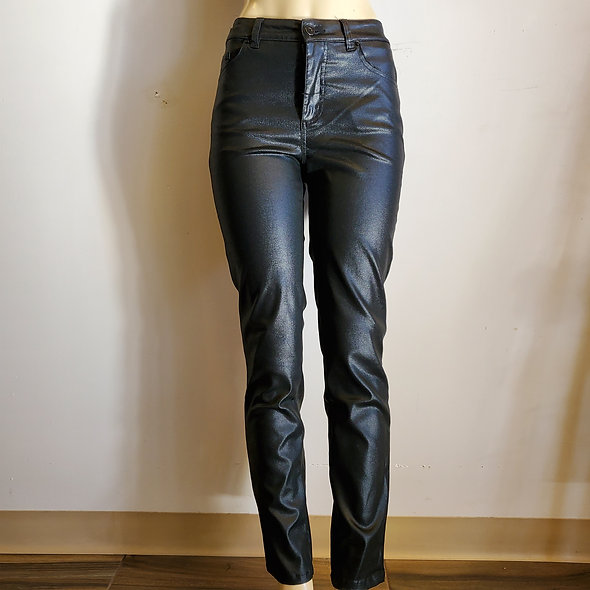 Tribal Faux Leather Pants