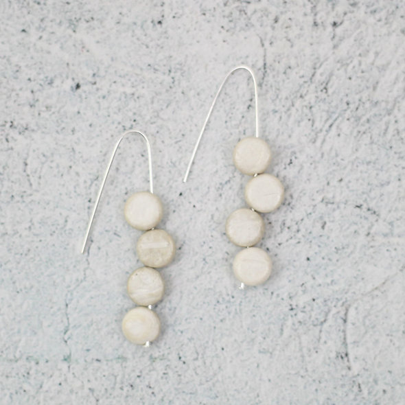 Ivory Eva Dangle Earrings