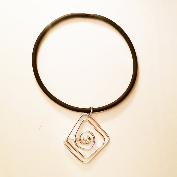 Jeff Lieb Abstract Shape Pendant Necklace