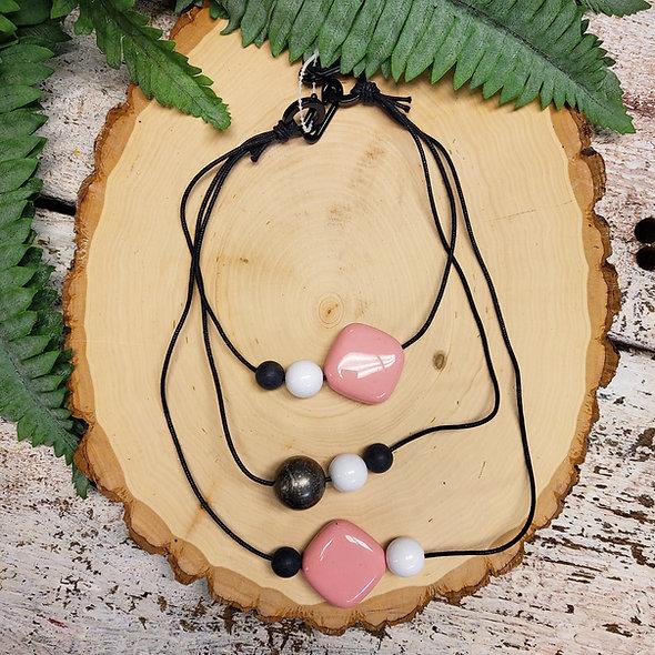 Alisha D. Baby Pink Triple Strand Necklace