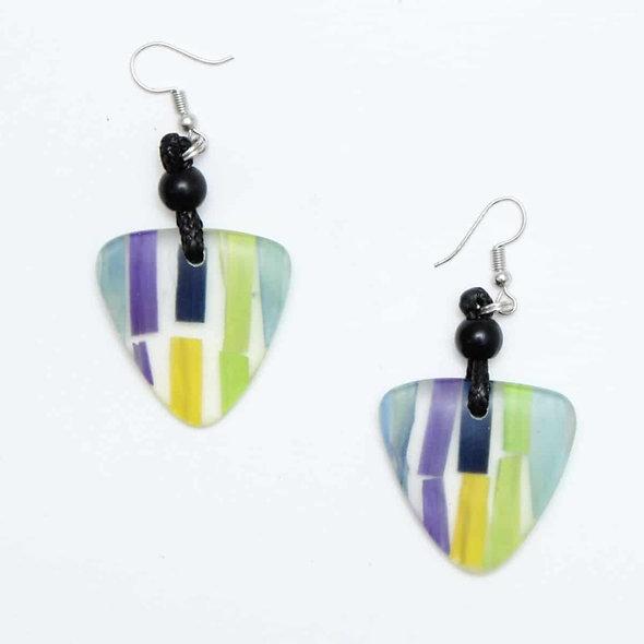Purple Sienna Dangle Earrings