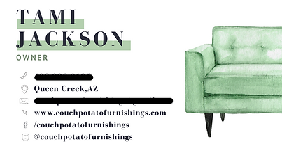 Couch Potato Business Card Back