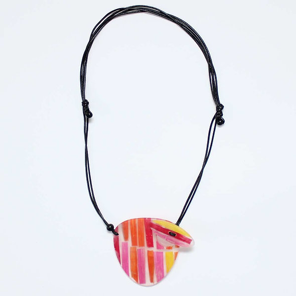 Pink Sienna Pendant Necklace