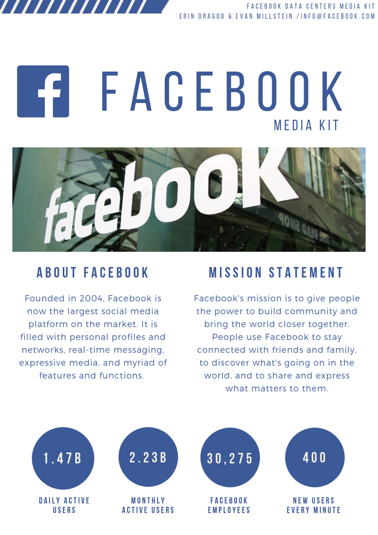 Mock Facebook Media Kit: Company Info