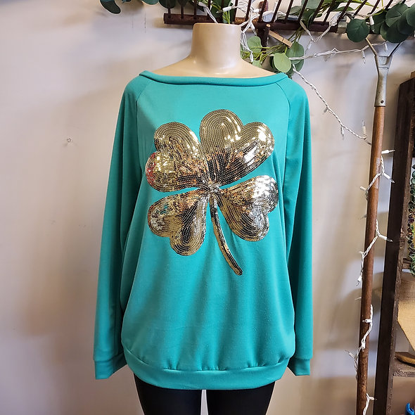 Gold Sequin St. Patricks Day Top