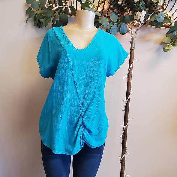 Oh My Gauze Sweet Top in Turquoise