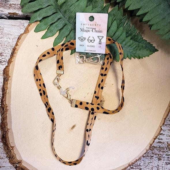 Cheetah Print Mask Chain