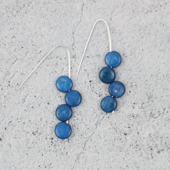 Denim Eva Dangle Earrings
