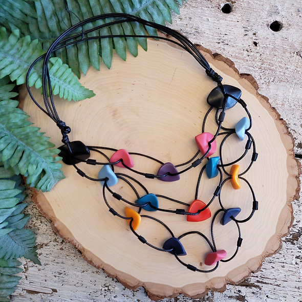 Alisha D. Candy Resin Linked Necklace