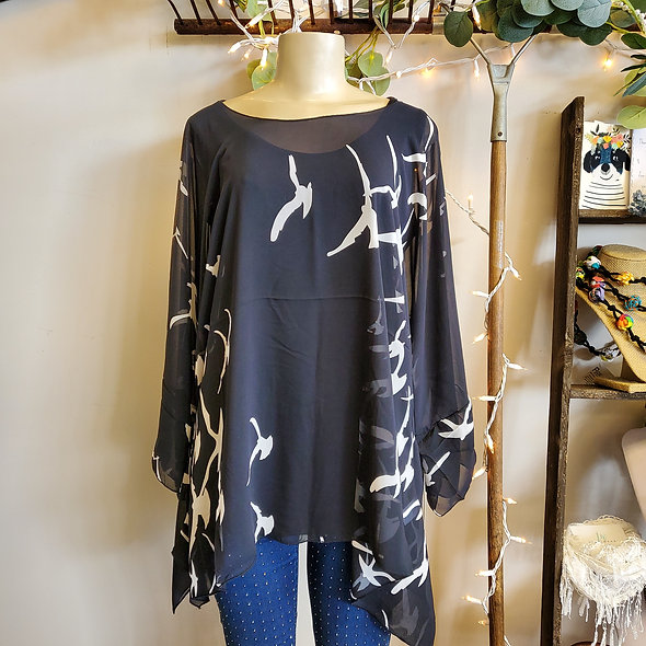 Alisha D One Size Asymmetrical Tunic