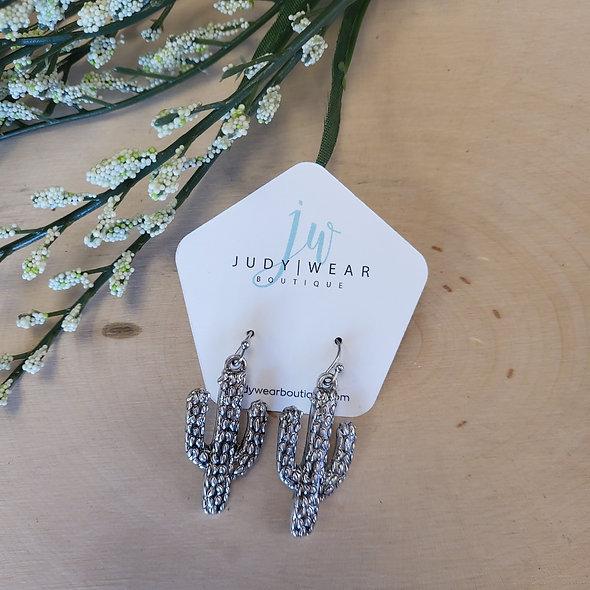 Silver Saguaro Earrings
