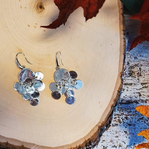 Silver Boho Statement Earrings