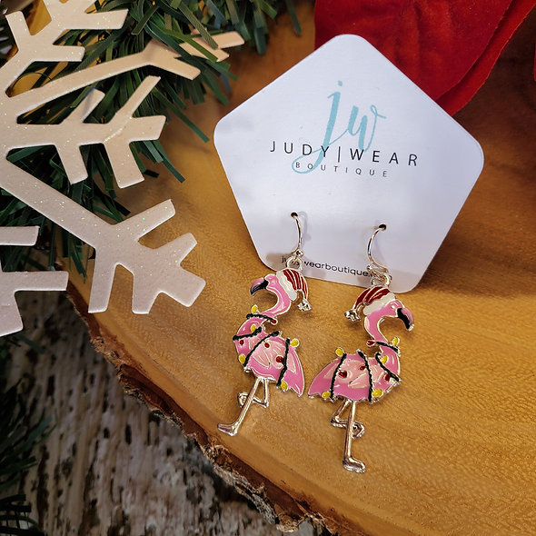 Lit Flamingo Earrings