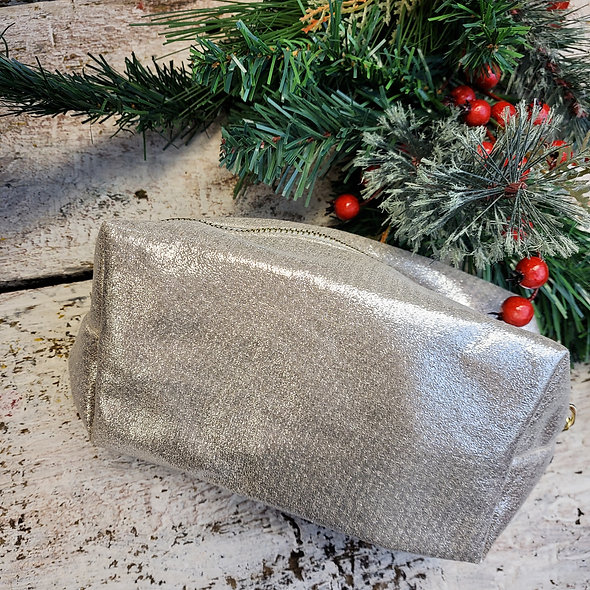 Shimmery Cosmetic Loaf Bag