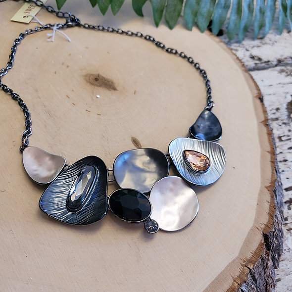 Black and Glam Statement Necklace