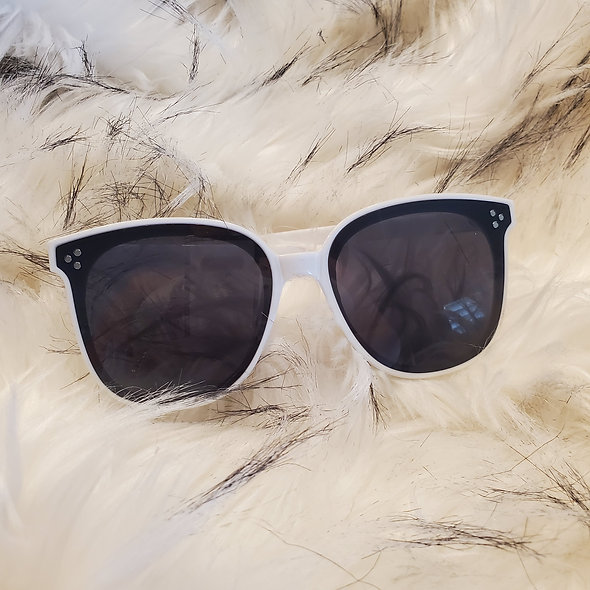 Don't Be Shady Sunglasses in White