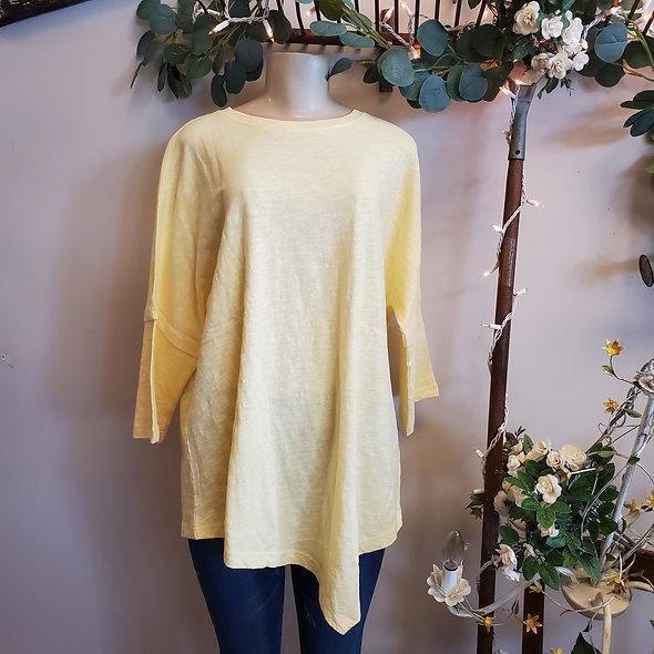 Butter Yellow Quarter Sleeve Tunic