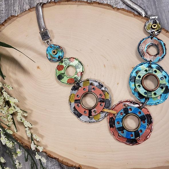 Treska Collections Short Graffiti Discs Necklace
