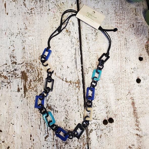 Tagua Azul Tulcan Necklace