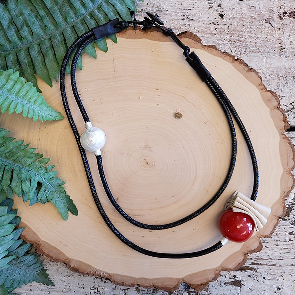 Alisha D. Minimalist Red Necklace