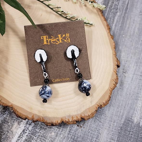Treska Collections Metronome Linear Post Drop Earrings