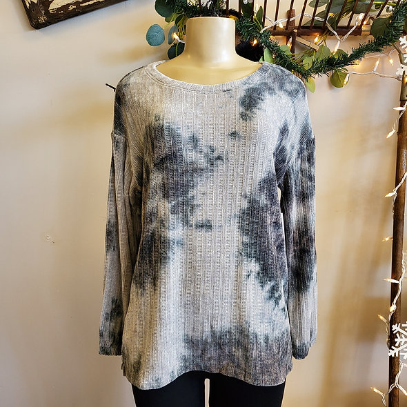 Tribal Grey Tie Dye Sweater