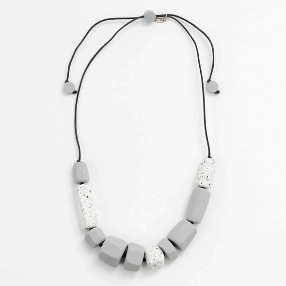 Grey and Granite Gail Necklace