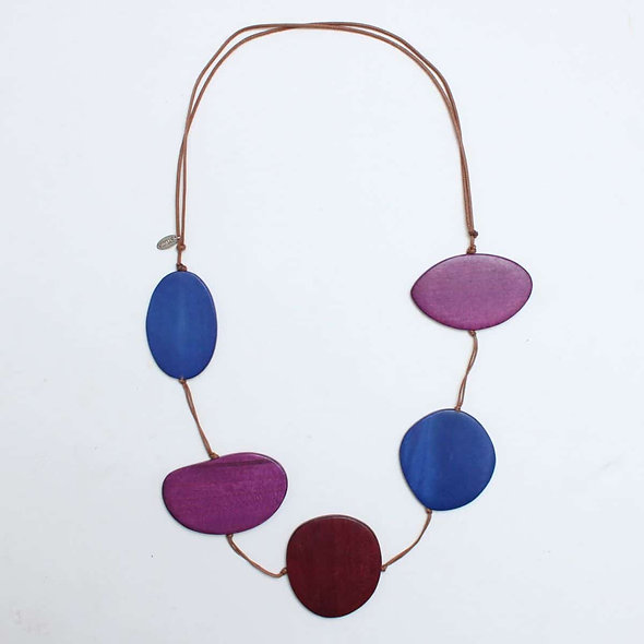 Shades of Purple Avary Statement Necklace