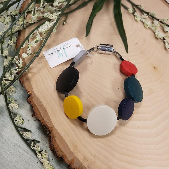 Multicolor Polka Dot Magnetic Bracelet