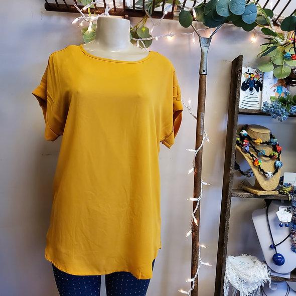 Zenana Mustard Tee Shirt