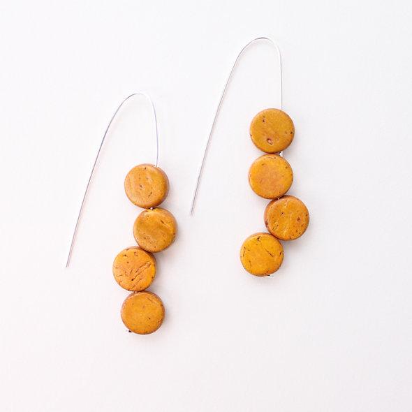 Mustard Eva Dangle Earrings