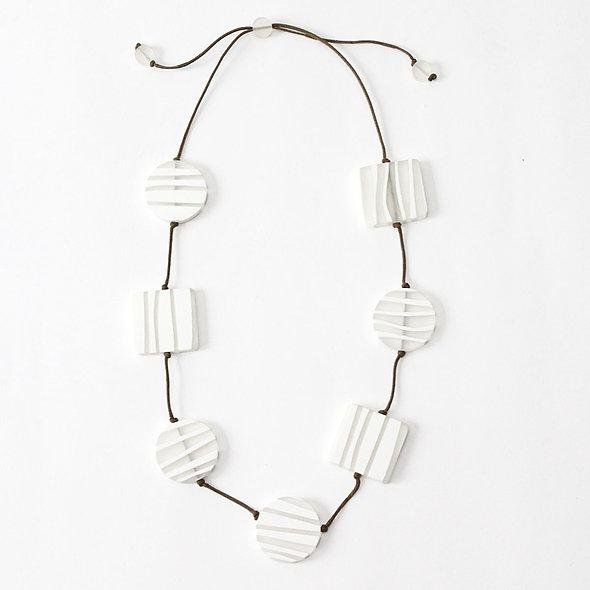 White Zebra Necklace