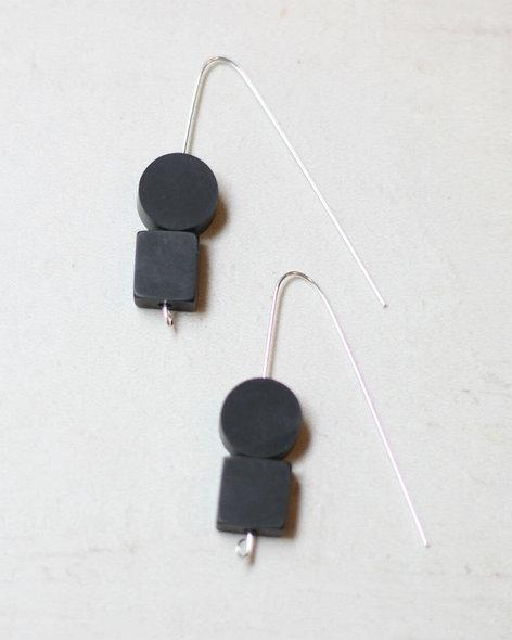 Black Ingrid Earrings
