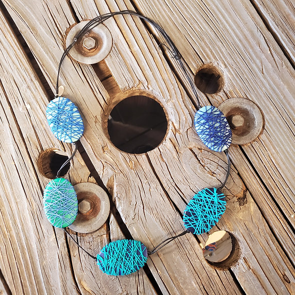 Sylca Multi Beaded Blue Necklace