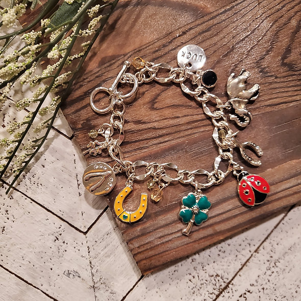 St. Patrick's Day Lucky Charms Toggle Bracelet