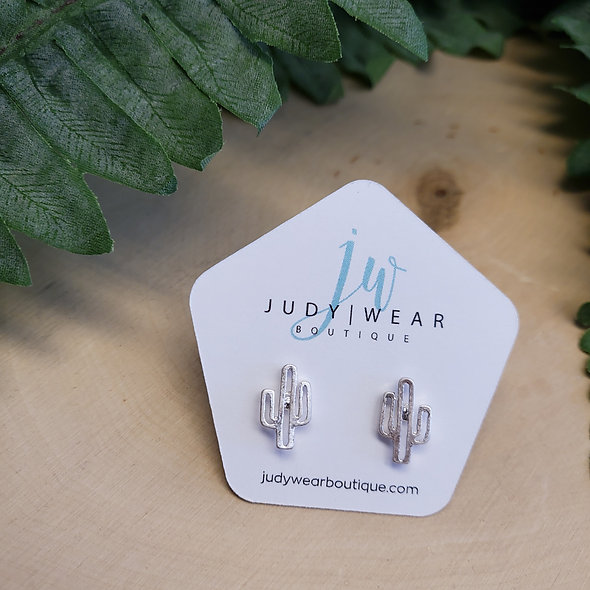 Mini Cactus Stud Earrings