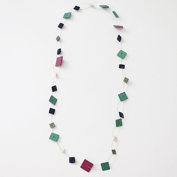 Aqua, Ivory, Lilac Rachel Necklace