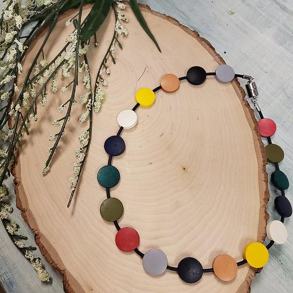 Bright Polka Dot Choker Necklace