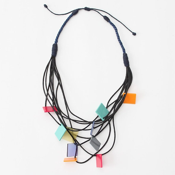 Square Multi-Strand Jackie Necklace