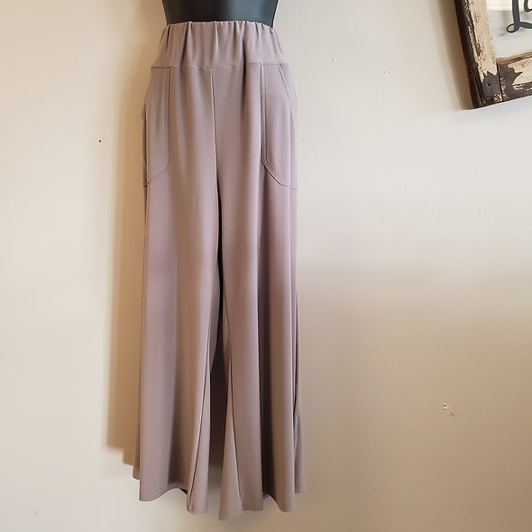 Taupe Wide Leg Trousers by JJ