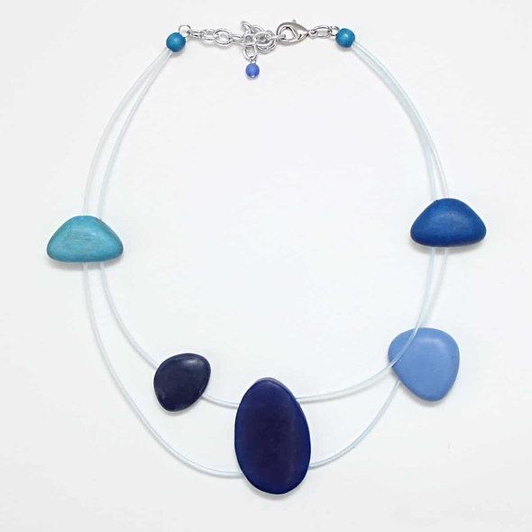 Blue Antonella Short Necklace