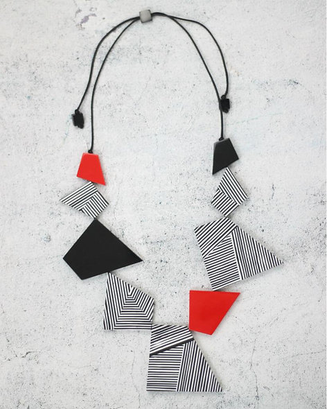Black, White and Red Lexi Necklace