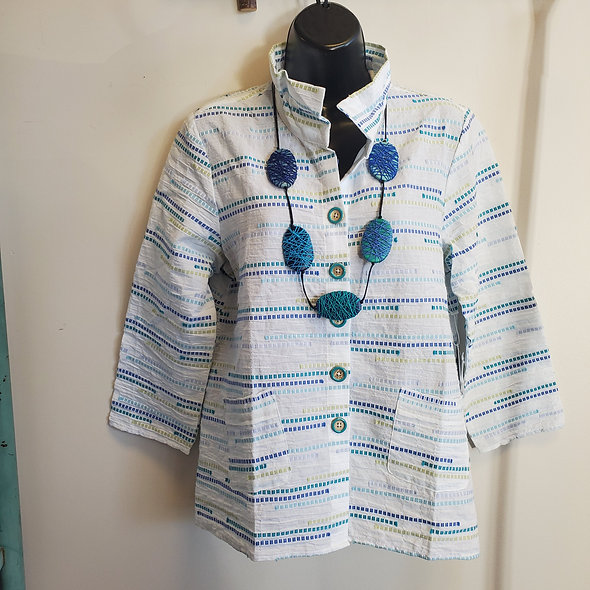Peruvian Ruched Collar Blouse