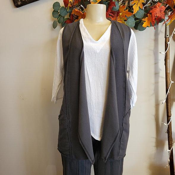 Prairie Cotton Short Grey Vest