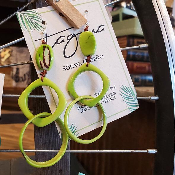 Tagua Lime Marissa Earrings