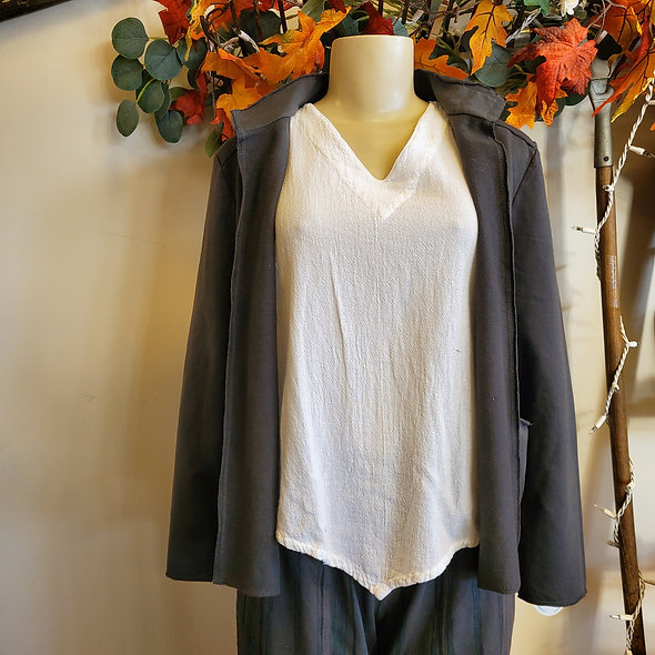 Prairie Cotton Grey Blazer Jacket