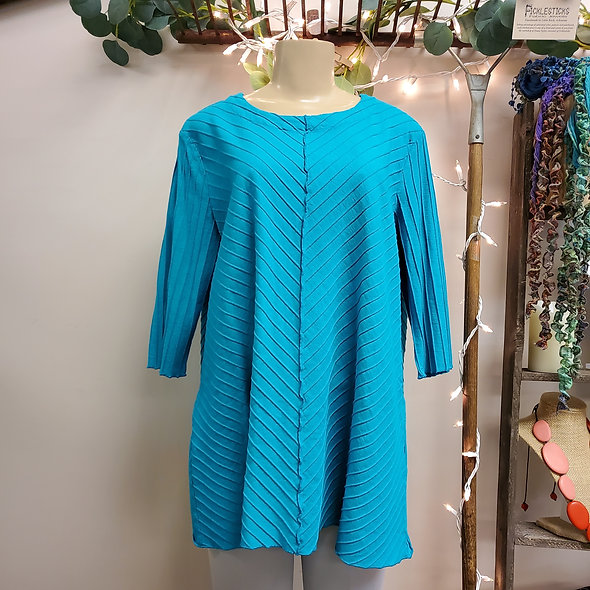 Focus Turquoise Diagonal Knit Tunic