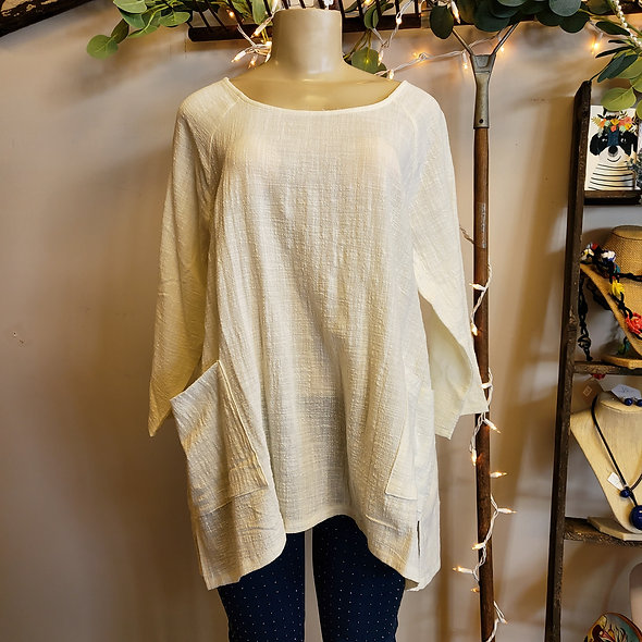 Zenana Oversized Linen Tunic