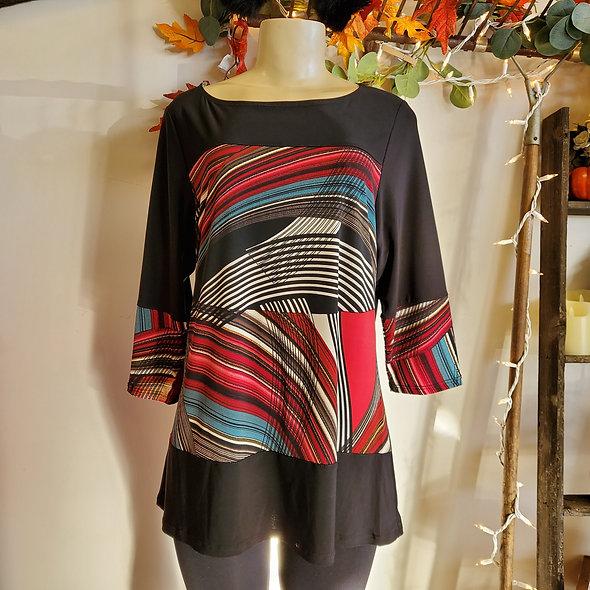 JoStar Color Block Print Tunic