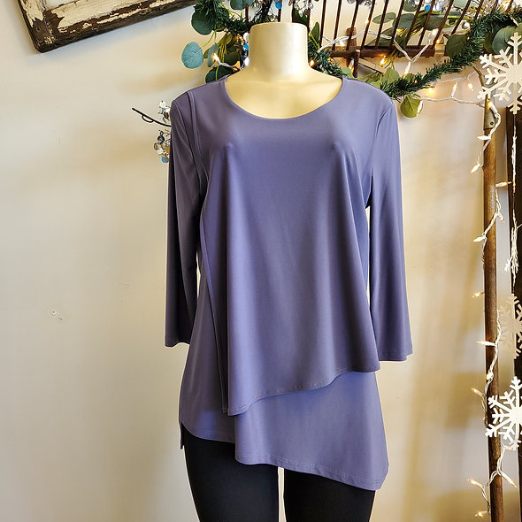 By JJ Periwinkle Tiered Top